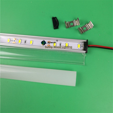5pcs/lot 0.5m/pc led channel aluminum profile with 5630 led strip,milky/transparent cover 12V 7W led bar light ,linear strip(China)