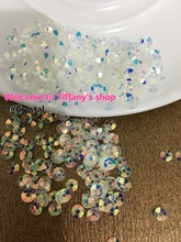 4mm 9#crystal 20gram/50gram per lot deep cup round loose sequins golden plating paillettes sewing wedding craft good quality