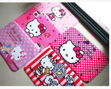 (5 Pcs/Lot) Kawaii Cartoon Hello Kitty Dora Stitch Minions Sesame Street Home Hallway Coral Fleece Mat Size 38*58CM