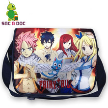 Anime Fairy Tail Printing School Crossbody Bag Teens Boys Girls Shoulder Bag Students Children Book Bag(China)