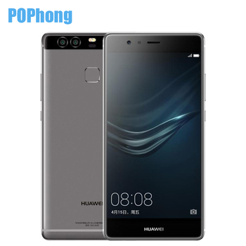 "D'origine HUAWEI P9 4G LTE Mobile Téléphone Kirin 955 3G RAM 32G ROM 5.2 ""FHD 1080 P Double Retour 12.0MP Caméra D'empreintes Digitales ID"
