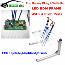 Newest Full Set LED BDM Frame ECU Programming Tool With LED Light+4 Probe Pens BDM Bracket For Ktag Kess V2 Galletto Chip Tuning(China)