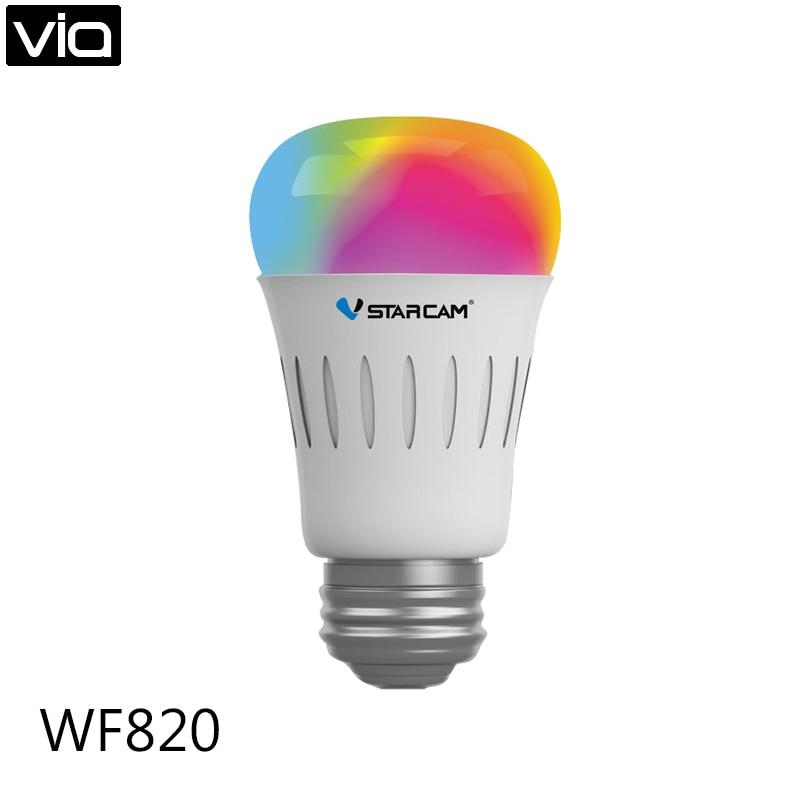 Vstarcam WF820 Free Shipping  Smart WiFi Lamp Change LED buld light RGBW colors via smartphone APP Control E27 Lamp Bulb<br>