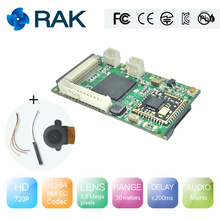 RAK5206 Video Module 720P HD,P2P Cloud server,WiFi/Linux/Robot camera module,2.4G WiFi,mini IP camera,FPV/drone camera module(China)
