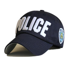 Police Cap Unisex Hat New Brand Caps Casual Sports hat Snapback Hat Gorras Hombre solid cappello hip hop baseball cap(China)