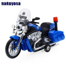 high simulation model of YAMAHA motorbike Patrol police car toy acousto-optic alloy patrol car gift toys children(China)