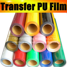 50X100CM SIZE/LOT PU Transfer vinyl for Tshirts , PU heat transfer vinyl , shirts vinyl transfer PU with free shipping(China)