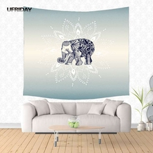 UFRIDAY Large Elephant Wall Tapestry Animals Mandala Wall Hanging Hippie India Yoga Mat Blanket Carpet Cool Tapestry Dorm Cover