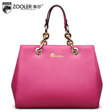 ZOOLER Fashion Genuine Leather Laptop Bag Ladies Chains Large Capacity Real Leather Tote Bags Luxury Handbags Women Shoulder Bag(China)