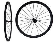 WS-CW03 : 3K Carbon Matt Cycling Road Bike Clincher Wheelset 38mm 700C Bicycle Wheel Rim Basalt Brake Side