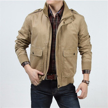 2016 fashion casual brand men winter cotton army green jacket coat man autumn khaki jackets coats high quality