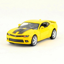 Free Shipping/KiNSMART Toy/Diecast Model/1:38 Scale/2014 Chevrolet Camaro Racing/Pull Back Car/Collection/Gift For Children(China)