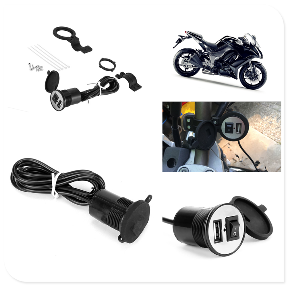 Car and motorcycle voltage adapter USB charger power socket for YAMAHA R6S USA BT1100 Bulldog XJR400 1300 RACER 400R