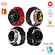MTK2503 Bluetooth GPS Smart Watch With Camera Sim Heart Rate Altitude 1.3 inch Full Round Clock For iOS Android VS KW18 G3 G8