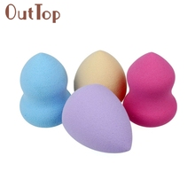 "4PCS makeup sponge esponja de Maquiagem makeup cosmetics make up puff makeup blender Latex Sponge for make-up 2.25"" x 1.5"" Q0331"