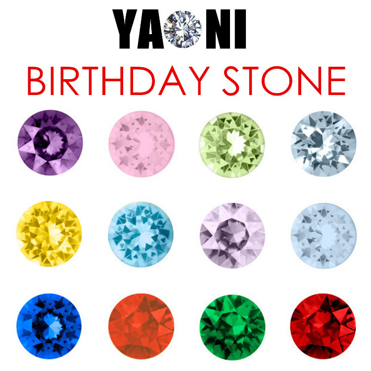 120pcs/lot Free shipping Round Floating Charms 5mm Rhinestone Birthday Stone Crystal For Floating Locket Necklace Pendant(China (Mainland))