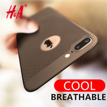 H&A Heat Dissipation Phone Cases for iPhone 5 5s se 6 6s plus Cases Breathable Net Cover For iPhone 7 7 Plus Case PC Capa Coque(China)