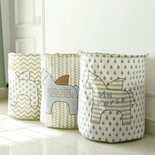 40*50cm Fashion fly horse series waterproof chevron storage barrel,clothing children room can stand storage bag laundry basket(China)
