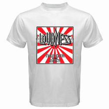 Jzecco New LOUDNESS Thunder InThe East Rock Band Legend Men's White T-Shirt Size S-2xl T Shirt 100% Cotton Top Tees The New(China)