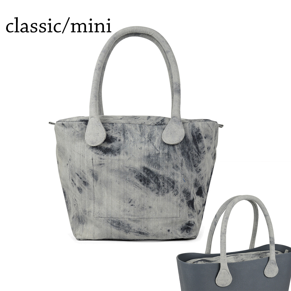 Short Long Round Denim Canvas Fabric Handle with Insert Lining for Obag Classic Mini O Bag Womens Bags Shoulder Handbag<br>