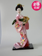 Decoration Arts crafts girl gifts get married Hot Japanese minimalism figures in the modern living room of silk kimono geisha do(China)