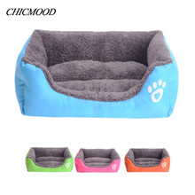 Pet Dog Cat Bed Puppy Cushion House Pet Soft Warm Kennel Dog Mat Blanket Beds For Puppies camas de perros(China)