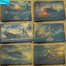World of Warships WOWS Naval vessel Naval battle game Home Furnishing decoration Kraft Game Poster Drawing core Wall stickers