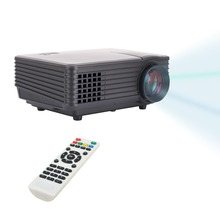 Brand New Black Mini projector RD-805 800*480 LED 1 proyector 120 Lumen HDMI / USB/ AV / VGA/ ATV/ audio out for Home Cinema
