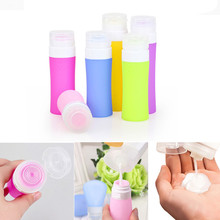 3pcs/set Portable Silicone Refillable Bottles Traveler Packing Press Bottles For Shampoo Conditioner Lotion Toiletries