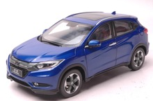 1:18 Diecast Model for Honda Vezel HR-V 2015 Blue SUV Alloy Toy Car Collection HRV HR V(China)