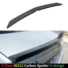Mercedes W212 Carbon Spoiler V Style E Class E250 E350 E63 AMG Carbon Fiber Rear Trunk Wing Rear Spoiler Sedan 2010 - UP