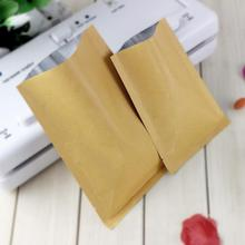 Free shipping 200pcs/lot 8 Sizes Open Top Flat Kraft Paper Al foil laminated Heat Sealed Bag Vacuum Pouches Food Packaging bags