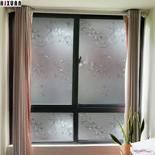 50x100cm 3D window film flower frosted stickers on the window opaque privacy decorative scotch Hsxuan brand 500621