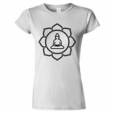 T Shirts Casual Brand Clothing Cotton Regular Buddha Lotus Flower Design Padma Buddhism Fortune Religion Symbol Women Tee Shirt