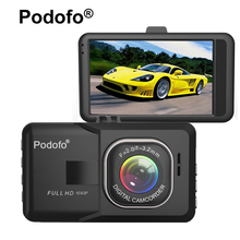 Original Podofo 3.0 inch Car DVR Camera FHD 1080P WDR Night Vision Motion Detection Registrar Video Recorder Blackbox Dash Cam(China)