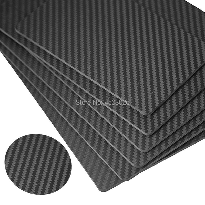 3K Full Carbon Fiber Sheet Plate 0.5mm-50mm Thickness for RC Drones & Industrial & Scientific Use (Twill, Matte SurfacePlain Weave,Glossy Surface)-3 -  -