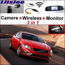 Liislee 3 in1 Special Rear View Wifi Camera + Wireless Receiver + Mirror Monitor DIY Buck Up Parking System For Volvo S60 S60L