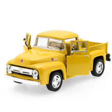 1:32 Retro Classic Car Pickup Truck Diecast Alloy Metal Luxury Car Model Collection Model Pull Back Toys Car Gift For Boy(China)