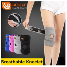 Boer Knee Support Elastic Breathable soft Knee Protector safety kneecap leg warmers leg sleeves(China)