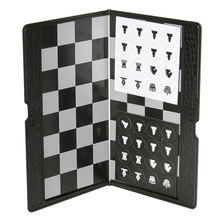 Potable Magnetic Wallet Style Chess Set Mini Chess Set Magnetic Chess Pieces Folding Chessboard Chess Game Mini Board Game Toys