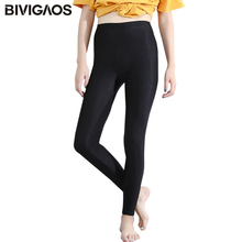 Buy BIVIGAOS Women High Stretch Thin Gloss Leggings Black Slim Workout Leggings Ankle Length Sexy Legging Pants Women Pantalones for $5.93 in AliExpress store
