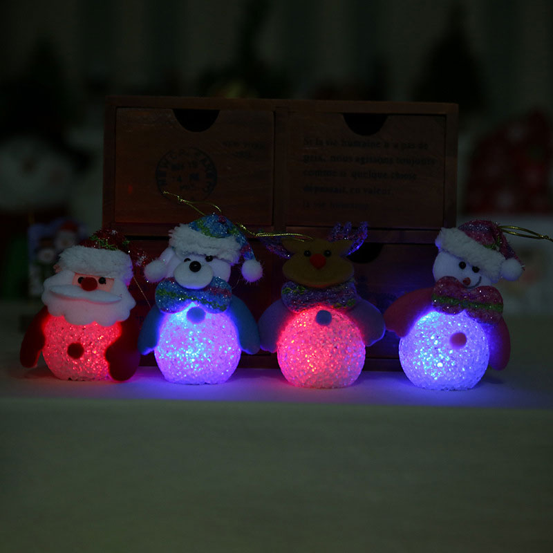 New Year Christmas Decoration for Home accessories Glowing EVA Snowman Nightlight Snowman Christmas Tree gifts Navidad Natal (4)