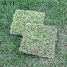 Artificial PA Grass Wall Green Plant Setting Wall For Home Company Building Wall Decoration(China)