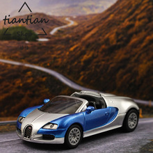 siku 1:64 Convertible Bugatti Sports Car model metallic material kids toys Decorative ornaments Pocket car(China)