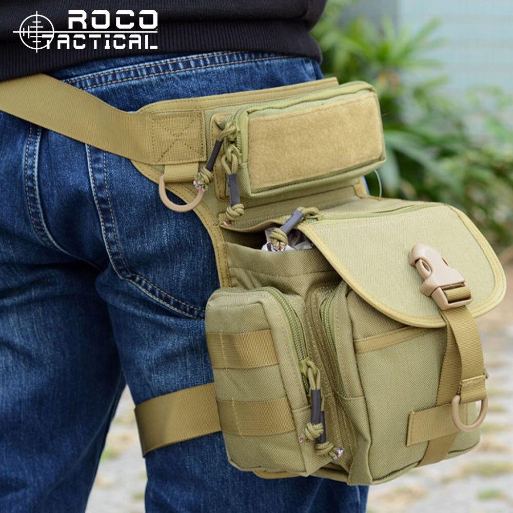 ROCOTACTICAL Outdoor Sports Waist Leg Bags Multifunctional Tactical Drop Leg Bag SWAT Sport Motorcycle Riding Pouch Drop Leg Bag<br><br>Aliexpress