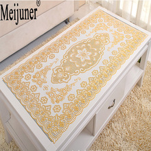 Meijuner Hot Sale PVC scald gold tablecloth small coasters for the home of anti-skid insulation bowls table cloth