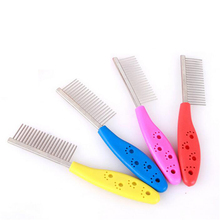 1Pc Pet Beauty Combs for Dog Hair Removal Single Stainless Steel Straight Comb Puppy Hair Grooming Tool Pet Products