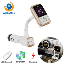 Bluetooth Car MP3 Player Kit Speakerphone FM Modulator Wireless Transmitter USB Mobile Phone Charger Mp3 Card + Remote Control(China)