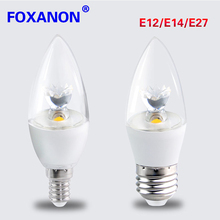 Foxanon Led Bulb AC 110V - 240V Led E27 E14 E12 Led Lamp Chandelier Candle Light for Christmas Home Decoretion Lighting(China)
