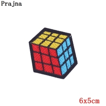 Prajna Magic Cube Patches Sew Sticker Cheap Embroidered Cute Patches Clothes Stickers Iron On Patches For Clothing Jacket Patch(China)